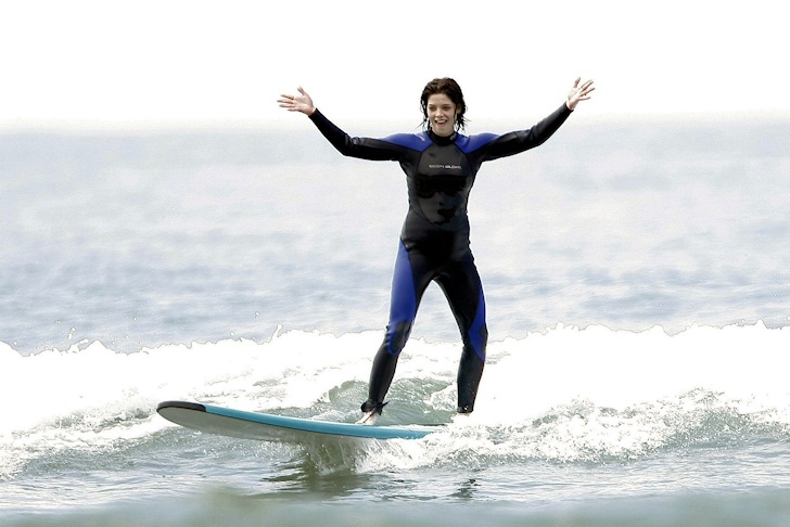 Ashley Greene is a surfing celebrity