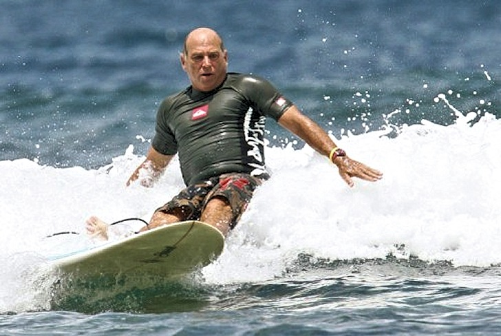 Jimmy Buffett: focused surfer