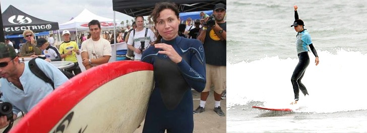 Minnie Driver is a surfing celebrity
