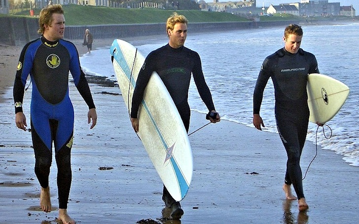 Prince William of Wales is a surfing celebrity
