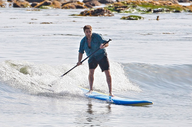 Robert Pattinson: riding his Twilight SUP