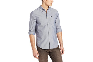 RVCA Men's That'll Do Long-Sleeve Oxford Shirt