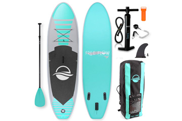 SereneLife Inflatable Stand-Up Paddle Board