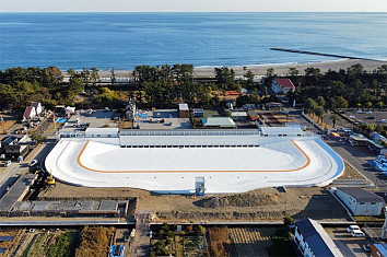 Shizunami Surf Stadium: Japan's largest wave pool is powered by American Wave Machines' PerfectSwell technology | Photo: AWM