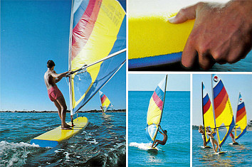 Windjammer: the world's first soft sailboard by Morey Boogie