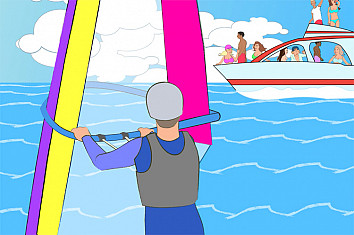 Beach Time: a windsurf-inspired animated cartoon series by Mark Fiore Martino