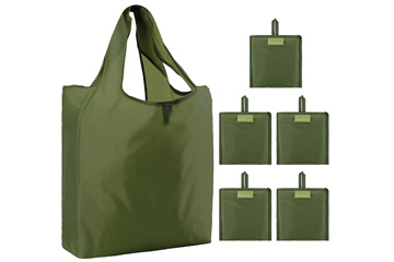 Foldable into Attached Pouch Grocery Bag by BeeGreen
