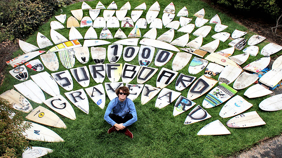 1000 Surfboard Graveyard: Chris Anderson and his halves
