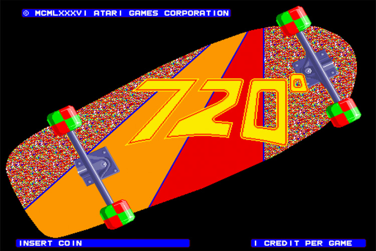720º game: the world's first skateboarding game was developed by Atari in 1986