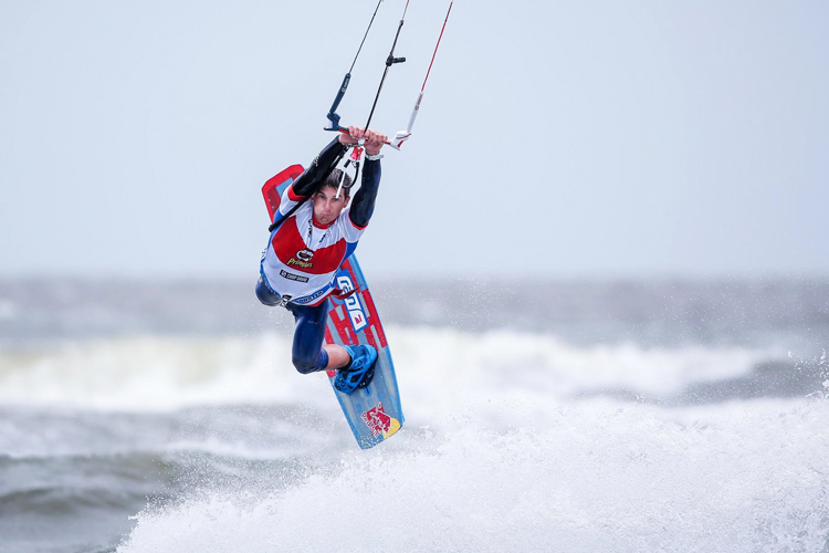 Aaron Hadlow: tasty victory at St Peter-Ording | Photo: Pringles Kitesurf World Cup