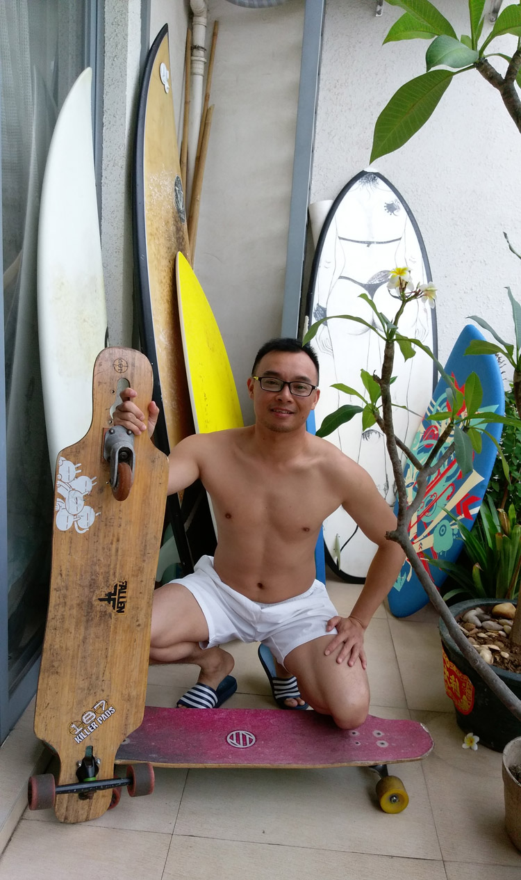 A Cai: a passionate Chinese surfer who dreams of founding a surf club