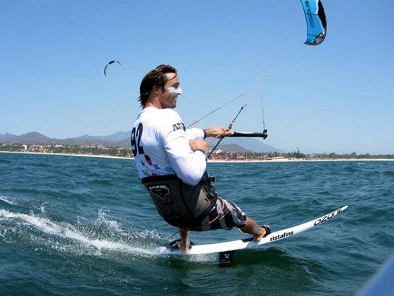 Adam Koch: always happy kiteboarding