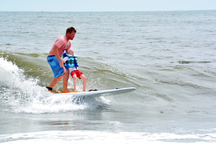 Children with special needs go surfing in NY's Long Beach