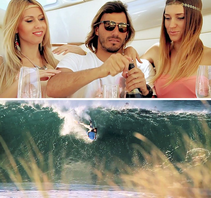 Gastão Entrudo: champagne, women and waves