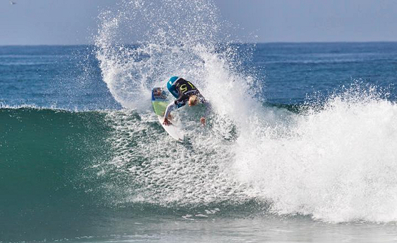 Adrian Buchan: fired up in Lower Trestles
