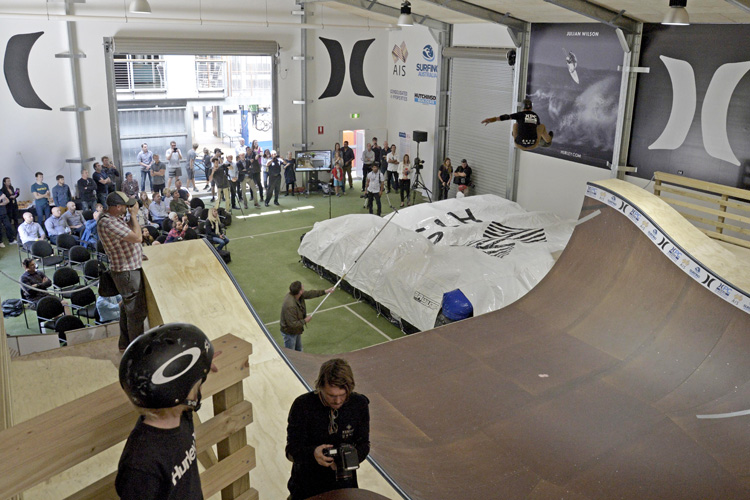 AIS Aerial Surf Skate Training Facility: skate more, surf better | Photo: Surfing Australia