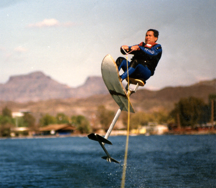 AirChair: the sit-down hydrofoil invented by Murphy and Bob Woolley