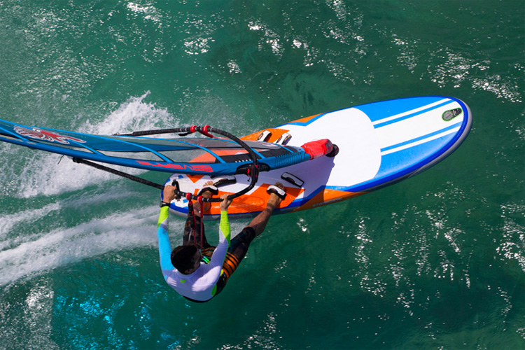 Starboard AirPlane: the the world's first fully-planing inflatable windsurf board | Photo: Starboard