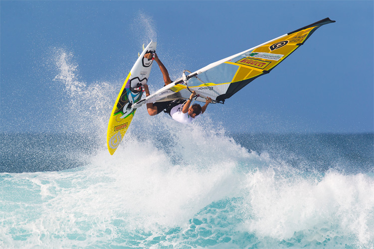 Windsurfing: staying fit is never easy | Photo: Carter/PWA