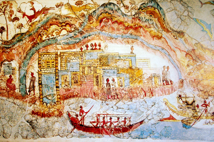 Akrotiri Frescoes: Mediterranean commerce in the Bronze Age