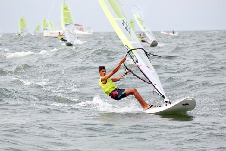 Omani windsurfer makes history for his country