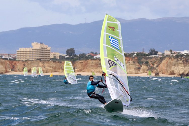 Alexandros Kalpogiannakis: the Greek windsurfer won the the 2019 Techno 293 Plus World Championships | Photo: Techno 293