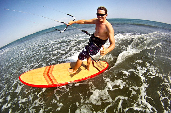 Alex Caizergues: he loves speed kiteboarding