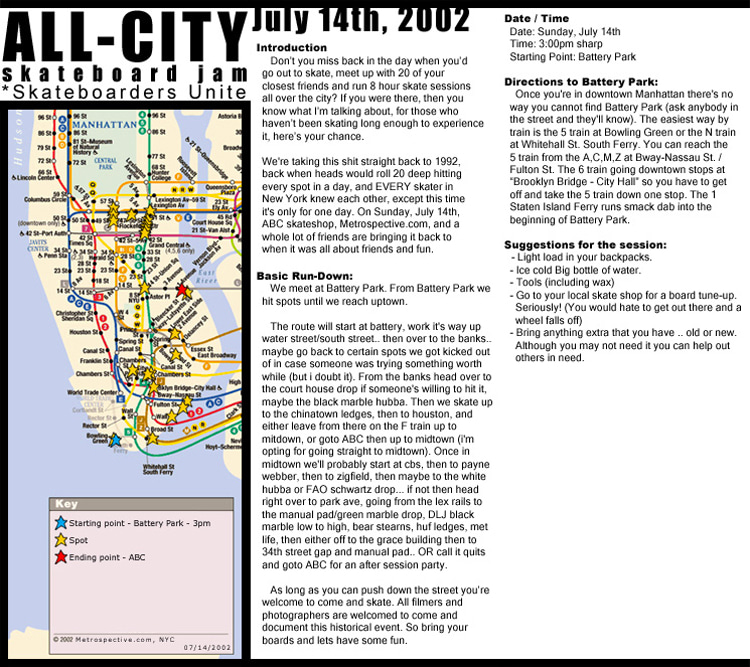 All-City Skate Jam 2002: the year New York celebrated the first official skateboarding holiday