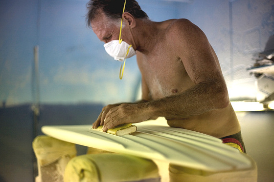 Allan Byrne: legendary surfer and shaper | Photo: Andrew Kidman