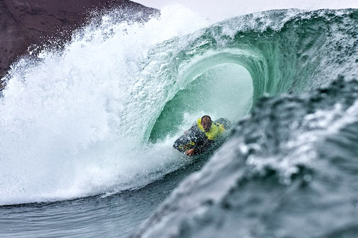 Amaury Lavernhe: barreled to victory at El Gringo | Photo: Pablo Jimenez