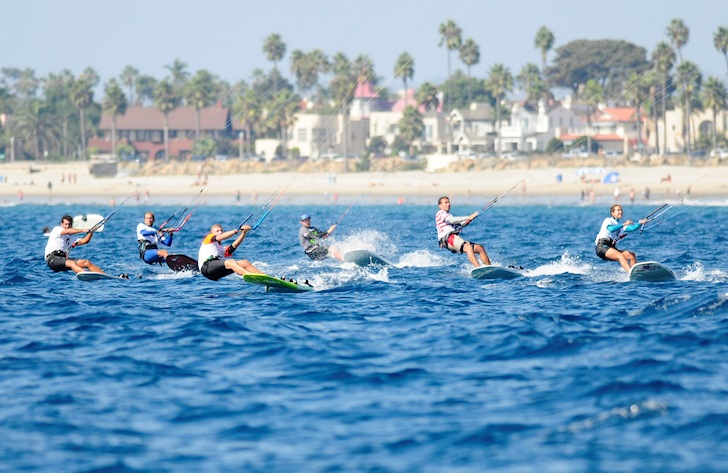 2014 Kiteboard North American Championships: challenging kelp and light winds | Photo: SDYC/Bob Betancourt