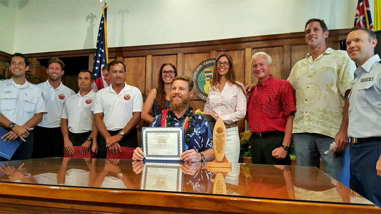 Andre Botha: he was honored by the Mayor of Honolulu