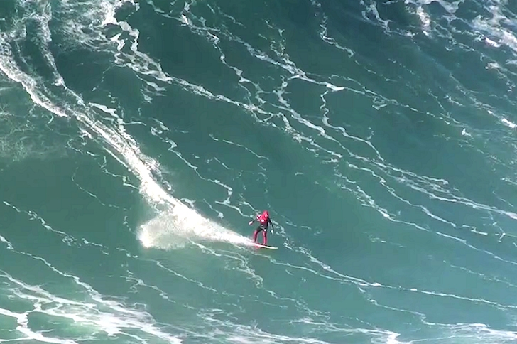Andrew Cotton: riding the enemy wave in Nazare