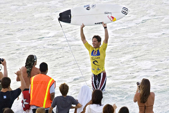 Andy Irons: tasting a Slatery victory in 2006