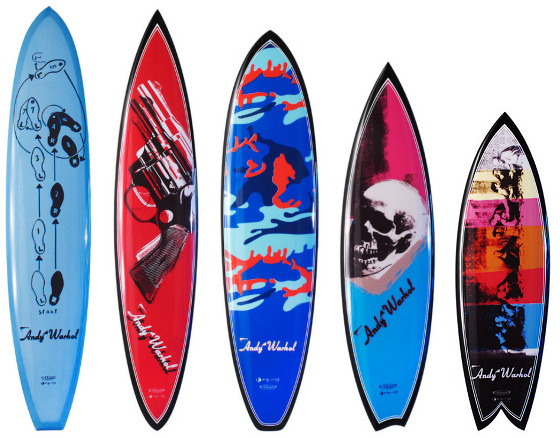 Andy Warhol by Tim Bessel: Pop Art surfboards