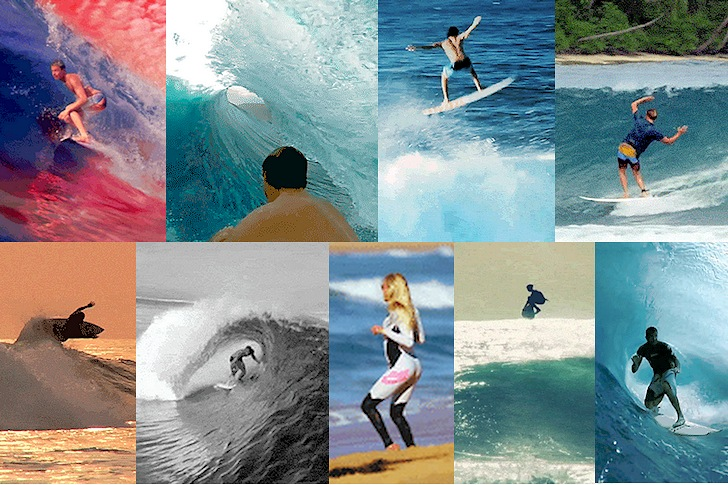 Animated surfing GIFs: sharing the stoke, frame by frame