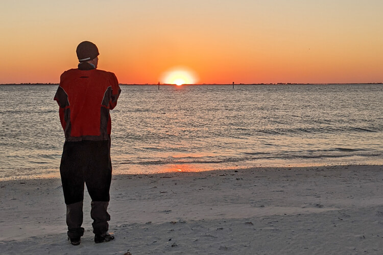 Anthony Vandenberg: enjoying the sunset during the 2021 WaterTribe Everglades Challenge | Photo: Vandenberg