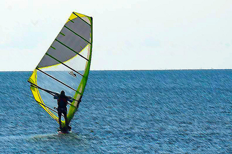 Tony Vandenberg: the solo windsurfing marathoner sails away for another challenge | Photo: Vandenberg Archive