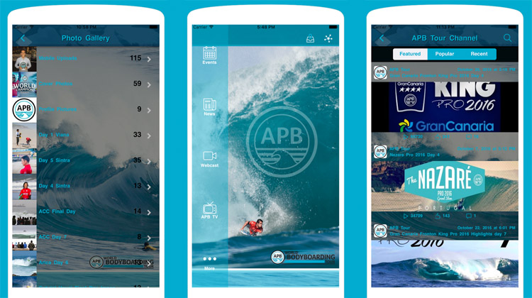 APB Tour: the new app features live updates, photos, and video