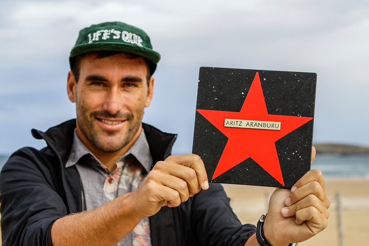 Aritz Aranburu: inducted into the Somo Surfing Walk of Fame | Photo: Comunica Surf