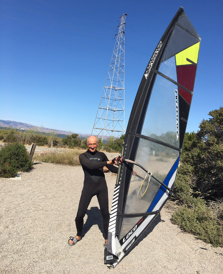 Arkady Kokish (2019): still windsurfing after all these years | Photo: Kokish Family Archive