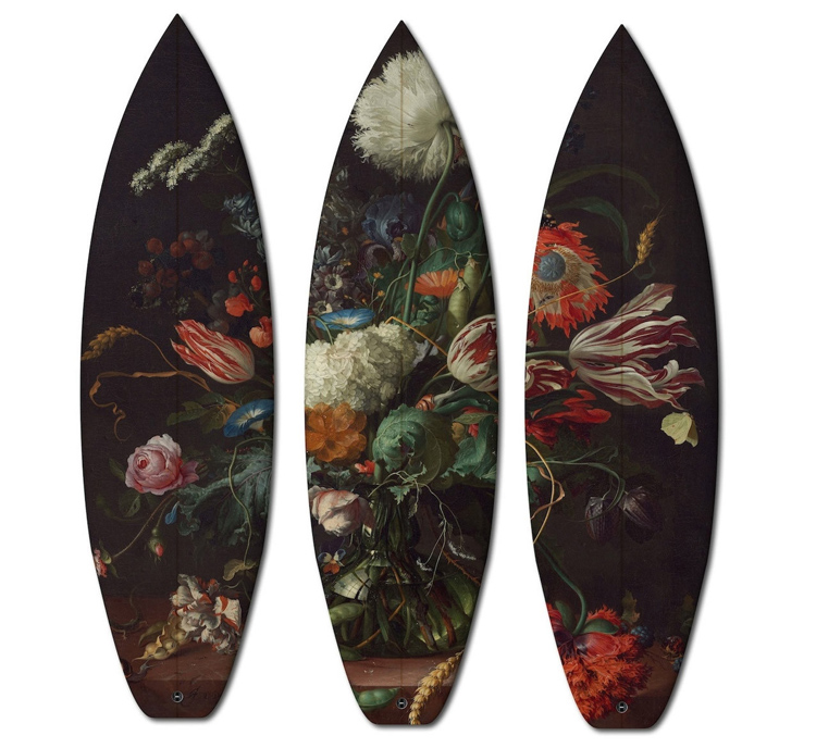 Flowers Triptych: painting by Jan Davidsz De Heem