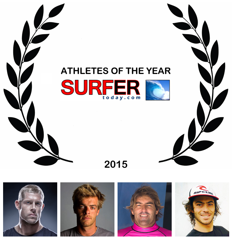 Athletes of the Year 2015: Mick Fanning, Nick Jacobsen, Antoine Albeau and Pierre-Louis Costes