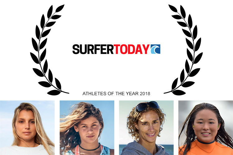 Maya Gabeira, Mikaili Sol, Iballa Moreno, and Ayaka Suzuki: Athletes of the Year 2018 by SurferToday