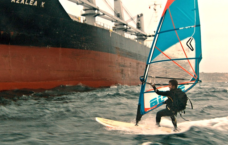 "A windsurfing love story in the ""Atlantic."""