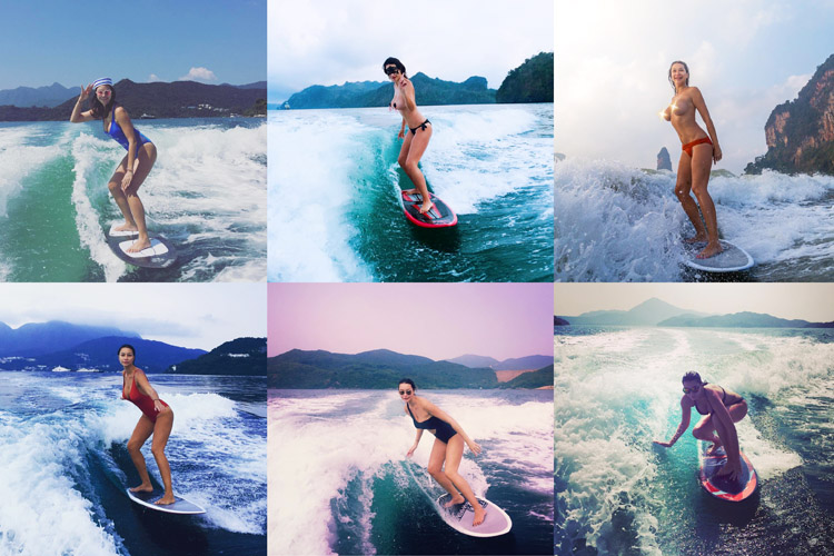 Aurelia Chenat: a wakesurfer/model with a French riding style