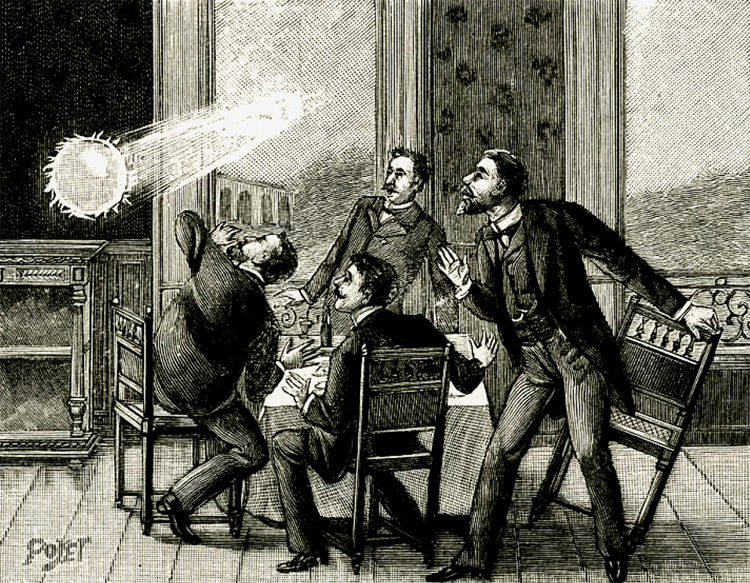 Ball Lightning: a rare form of lightning that creates a persistent and moving luminous white or colored sphere | Illustration: Creative Commons