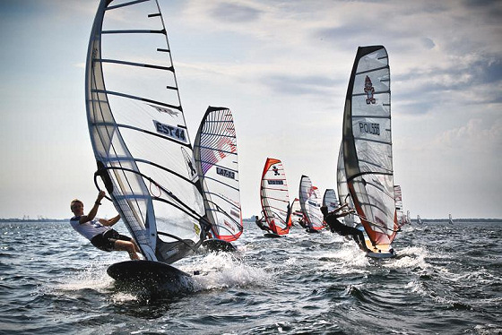 Windsurfing in the Baltic: plenty of competitors, plenty of sun and wind