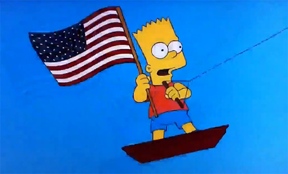 Bart Simpson: a proud US kiteboarder