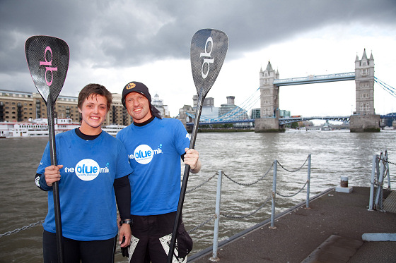 Blue Bath2London: they arrived at Tower Bridge